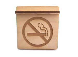Wooden No Smoking Sign For Restaurants Bars Cafes Schools And Workplaces