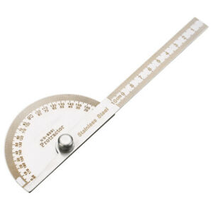 180 Stainless Steel Protractor Angle Meter Ruler For Construction Woodwork