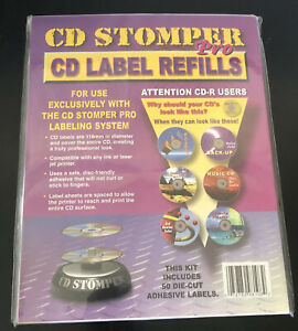 Cd Stomper Pro Cd Label Refills 50 Die Cut Adhesive Labels New And Sealed