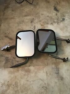 1970s 80 S Vintage Ford Truck Side View Mirrors With Brackets Used Ford Logo