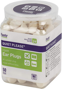 Flents Ear Plugs 50 Pair For Sleeping Snoring Loud Noise Traveling Studying