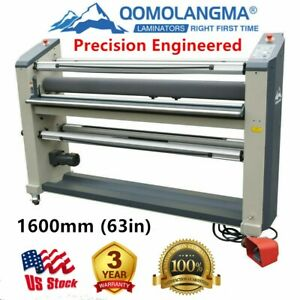 Precision Engineered 63in Wide Format Laminator Laminating Top Heat Assist