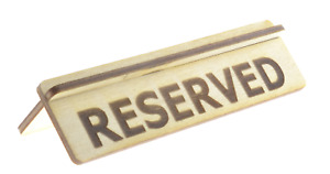 Wooden Reserved Table Sign For Restaurants Bars And Cafes Pack Of 10