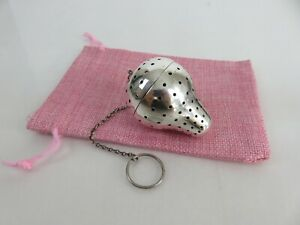 Heavy Gorham Aesthetic Sterling Strawberry Form Tea Ball Infuser Pouch C1912