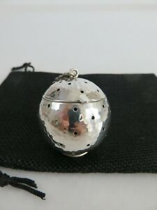 J F Fradley Co Hand Wrought Sterling Silver Tea Ball Infuser Pouch C1880s