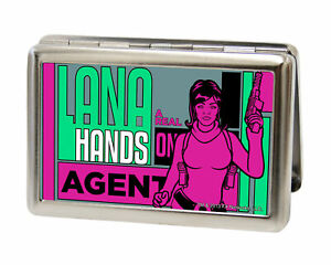 Archer Lana a Real Hands On Agent Large Business Card Holder Green pink