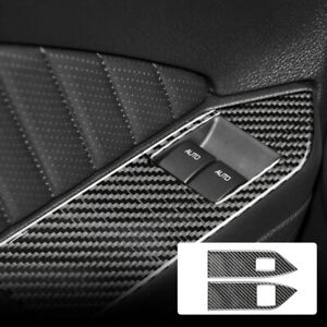 Window Control Switch Button Sticker Carbon Fiber For Ford Mustang 2005 2009