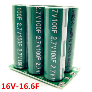 1 2pcs 16v 16 6f Farad Capacitor Electrical Component Super Capacitor Double Row