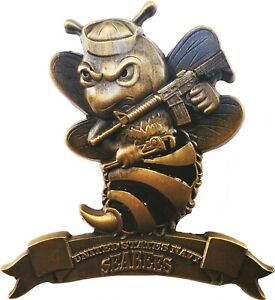 US Navy Seabees quot;We Build We Fight Commemorative Challenge Coin 2quot; 156 $13.56