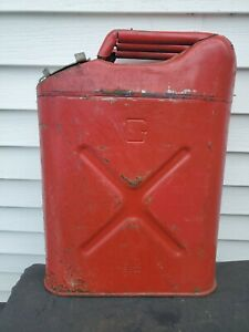 1984 Usmc 5 Gallon Metal Gas Can Jerry Can Container W Screw on Lid