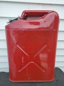 1988 Usmc 5 Gallon Metal Gas Can Jerry Can Container W Screw on Lid