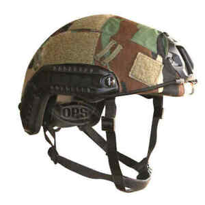 OPS FAST Helmet Cover US M81 Woodland size L XL GBP 26.50