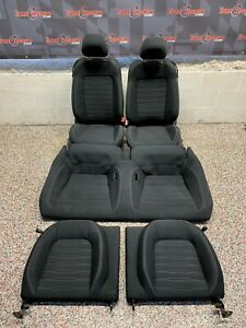 2017 Ford Mustang Gt Oem Front Rear Black Cloth Seats