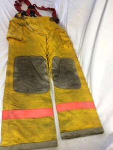 Vintage Quaker Safety Turnout Firefighter Pants W Suspenders Free Shipping