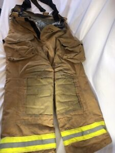 Janesville Lion Safety Turnout Firefighter Pants W Suspenders Free Shipping