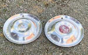 1949 1957 Lincoln 15 Wheel Cover Hubcap Pair