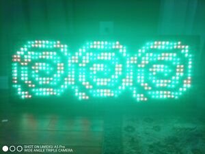 Led Scrolling Sign 40 x15 Programmable 7color Sign Message Board