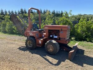 Ditch Witch Trencher 3700cd Ride On Caterpillar Diesel Engine