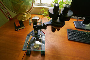 American Optical Ao Spencer 28lf Stereo Microscope W swing Arm Vintage Open Box