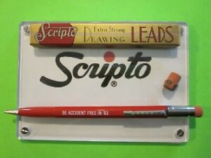 Scripto Red 1 1mm Mechanical Pencil W Box 1 1mm Red Leads Eraser