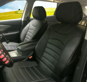 Synthetic Leather Front Seat Cushion Covers Compatible For Cadillac Vehicles