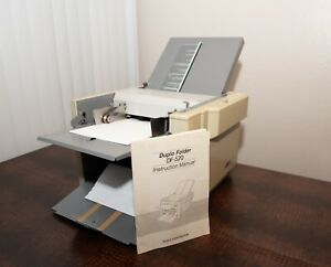 Duplo Df 520 Automatic Setting Paper Folder Folding System Tested Working