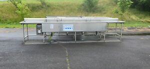 16ft Long Stainless Steel 4 Bay Sink