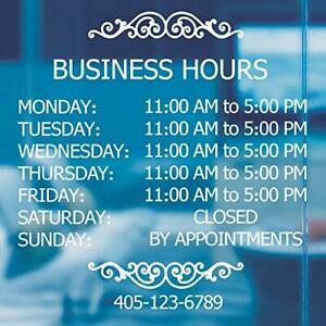 Professional Business Hours Sign Sticker Kit 20 Inches Changeable Hours Sign