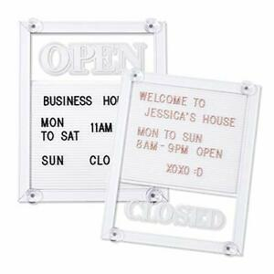Open Sign Open And Closed Sign With Letter Board For Glass Door Business