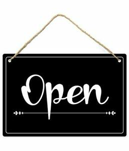 Open Closed Sign 12 x8 Pvc Plastic Double Sided Hanging Sign High Precision