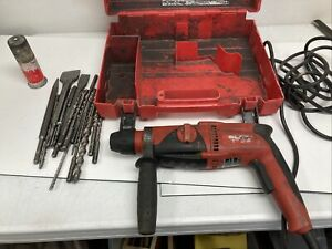 Hilti Te 2 s Rotary Hammer Drill With Case And Drill Bits