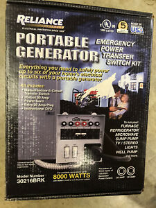 Reliance 30216brk 6 Circuit 30 Amp Generator Transfer Switch New sealed