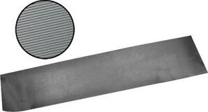 Model A Ford Running Board Matting 2 Pieces Black Rubber Ribbed Design