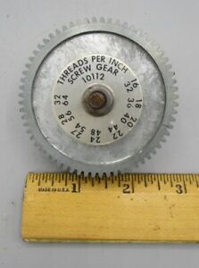 Vintage Screw Gear 10112 Probably For Metal Working Equipment
