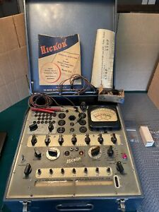 Vtg 1946 Hickok 534 Tube Conductance Tester Analyzer W 1952 Roll Chart Parts