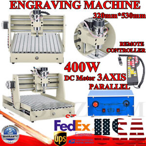 3 Axis Cnc 3040t Router Engraver Milling Cutting Machine 400w W Controller 110v