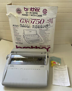 Mint Brother Gx 6750 Electric Typewriter Excellent Barely Used In Orig Box