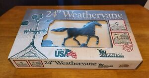 New 24 Whitehall Aluminum Horse Weathervane Made In Usa New In Box