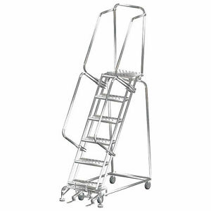 Ballymore Ss062414p 6 Step 16 wx52 d Stainless Steel Rolling Safety Ladder