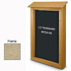 United Visual Products 26 w X 42 h Single Door Letter Board Message Center With