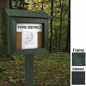United Visual Products 16 w X 34 h Mini Letter Board Message Board With Woodland