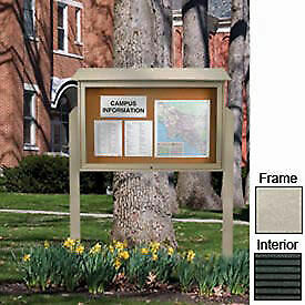 United Visual 45 w X 30 h Letter Board Top hinged Single Door Message Center