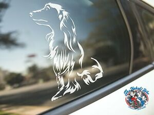 Dachshund Sticker Dog Car Decal Long Haired Dachshunds Dogs Puppy Silhouette