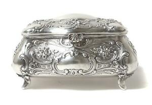 Silver Sugar Box Or Casket On Legs Germany Was Imported To Sweden