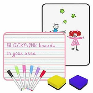 Bestgrass 2 Pack Dry Erase Board For Kids Small Lined White Board For Student