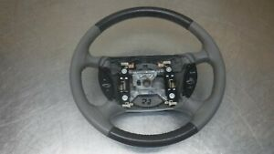 Ford Mustang Leather Wrapped Steering Wheel 94 98 99 04 Grey Gray