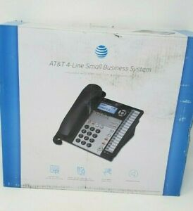 At t 1040 4 line Expandable Corded Phone System With Speakerphone 1 Handset Bl