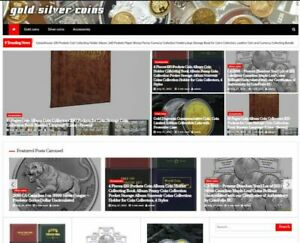 Gold Silver Coins Amazon Affiliate Website Turnkey Fully Automated