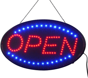 Led Open Sign 23x14inch bigger Size Led Business Open Sign Include Business Ho