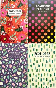 Academic Planner July 2021 To July 2022 5 25 X 8 25 4 Different Designs